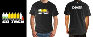 scuba diving marketing and t-shirt graphic design
