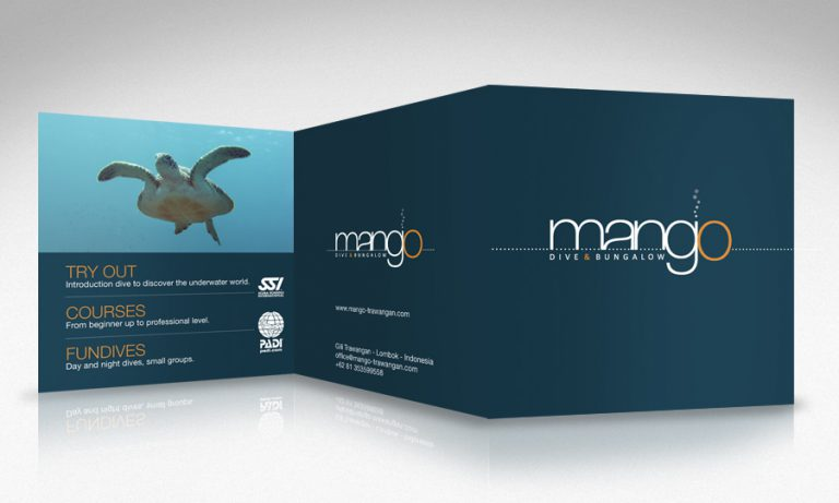 brochure design 50bar scuba design