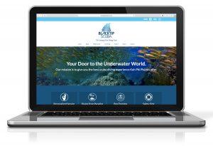 scuba diving marketing and website design by 50bar scuba design