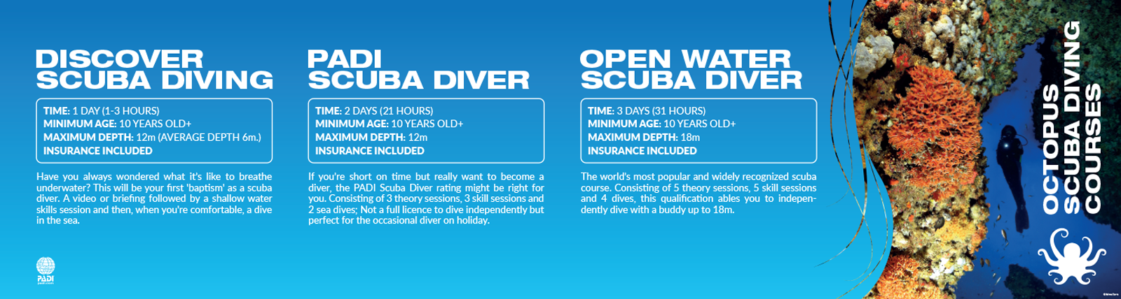 Scuba diving course design by 50bar scuba design
