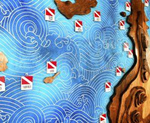 scuba diving dive site map by 50bar scuba design