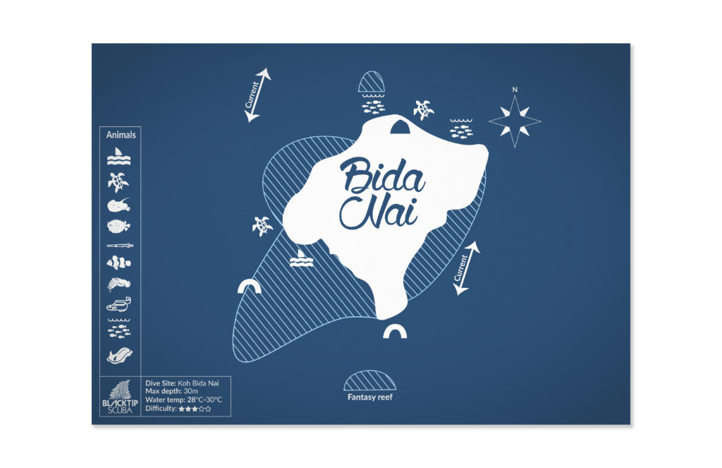 scuba diving map design. 50bar Scuba Design