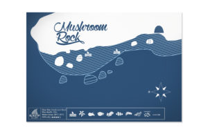 scuba diving map design. 50bar Scuba Design