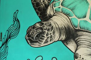 scuba diving center mural graffiti shopfront decoration