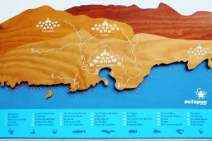 scuba diving dive site map design