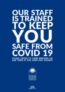 Covid19 awareness campaign for scuba diving centers