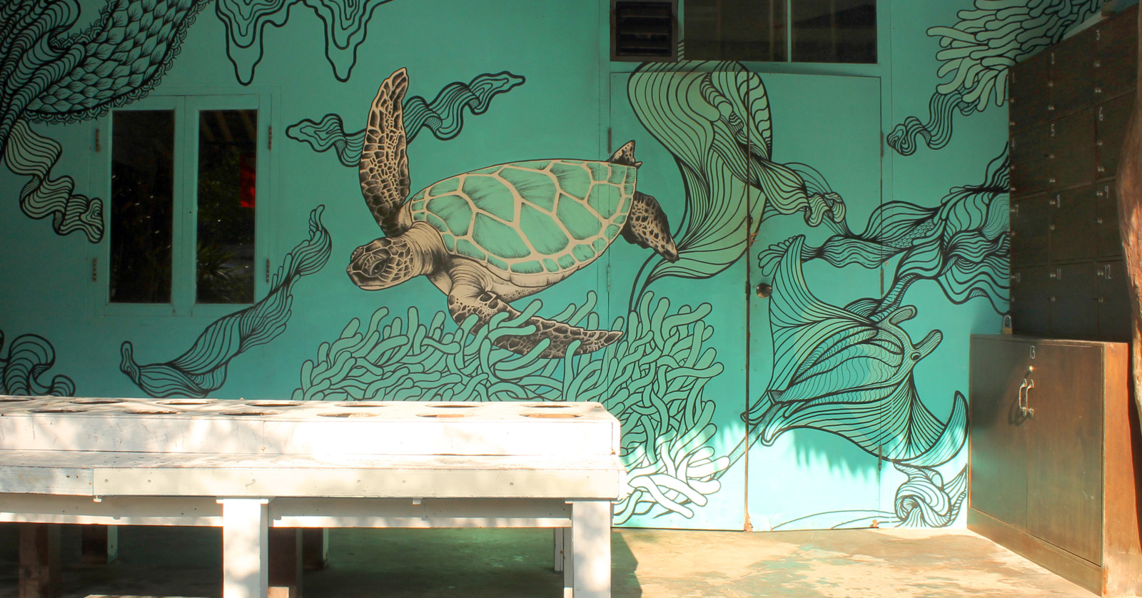 dive center decoration and mural design