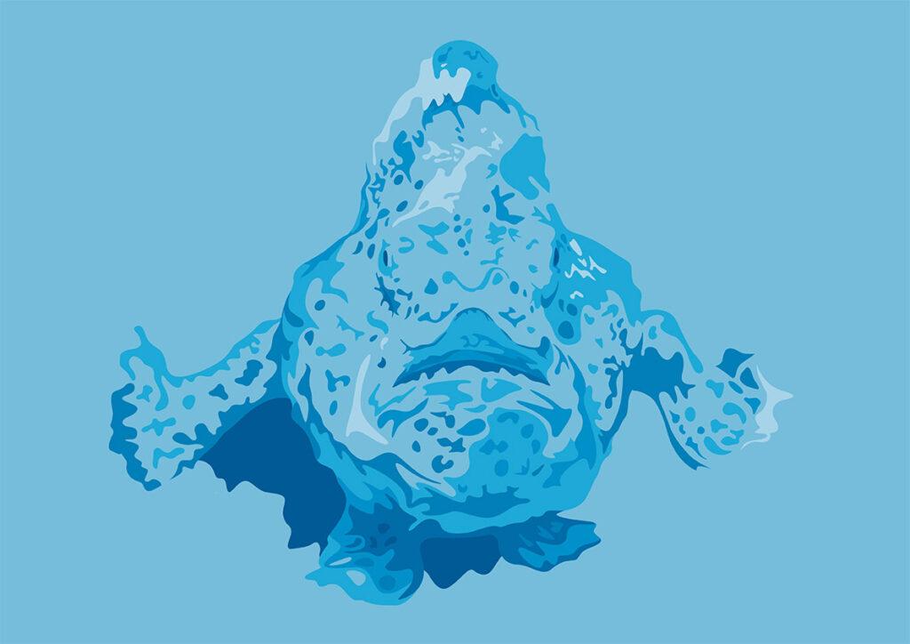 frogfish illustration for DAN