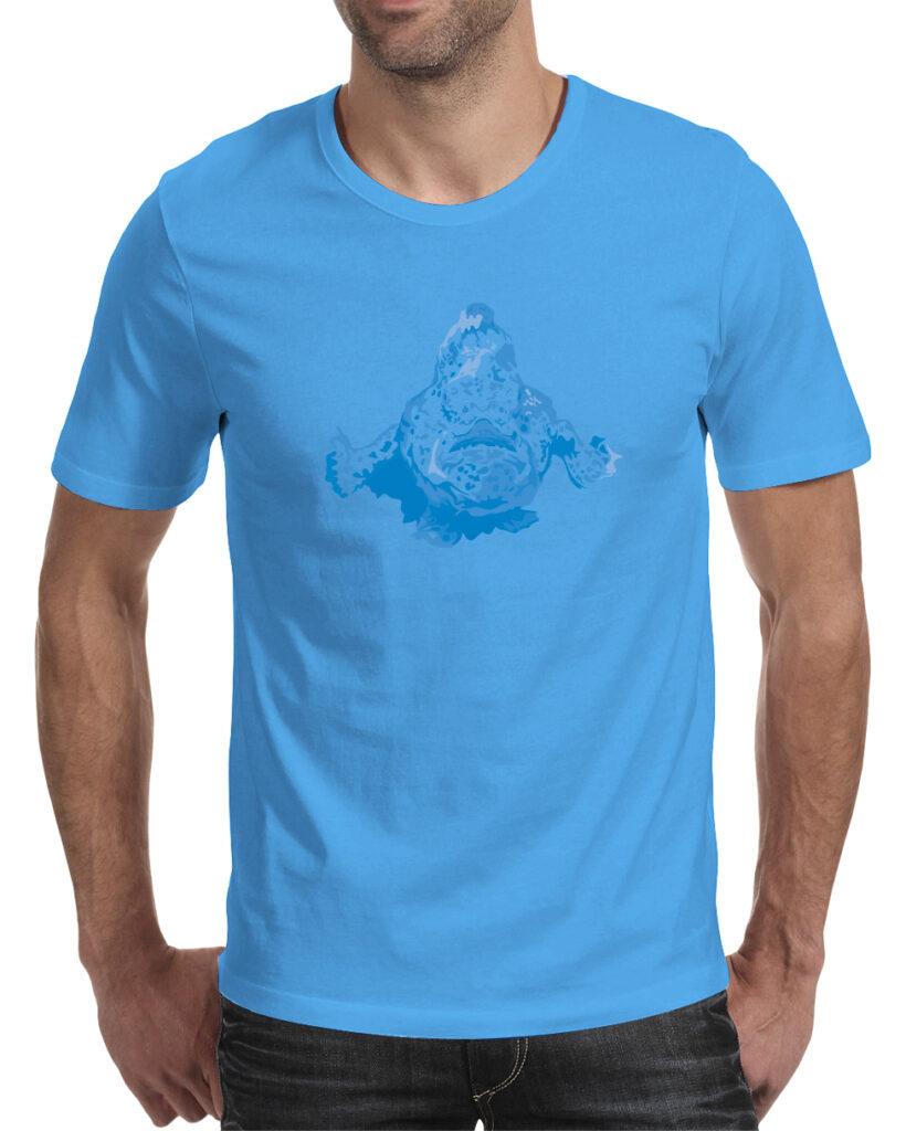 50bar scuba design Mock-up frogfish t-shirt for Diver Alert Network