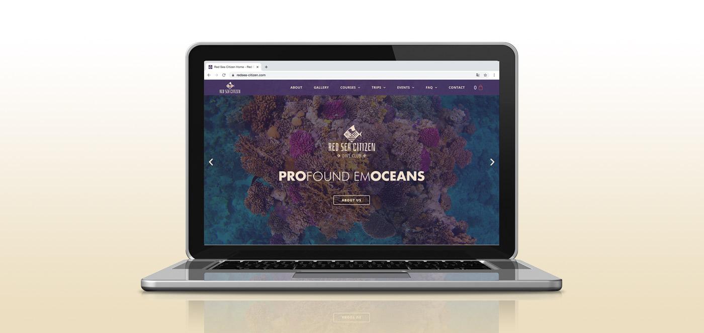 scuba diving website design and development