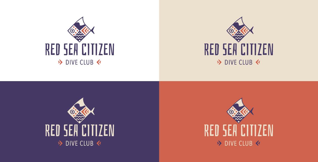 Scuba diving logo variations design
