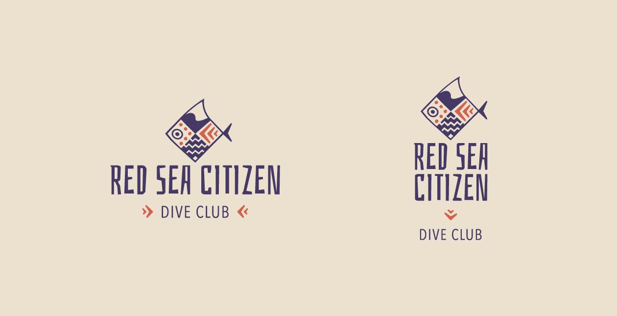 Scuba diving logo design: Red sea citizen Dive Club