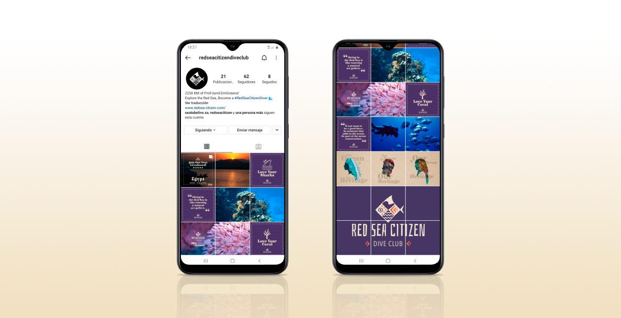 scuba diving social media content creation